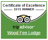Wood Fen Lodge celebrates TripAdvisor Certificate of Excellence 2015